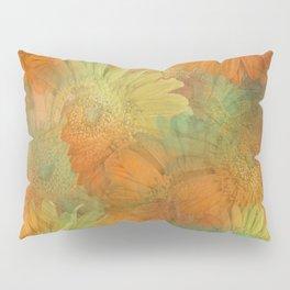 Floral Orange-Yellow-Green Pillow Sham