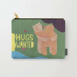 reminder-bear hugs wanted, always. Carry-All Pouch