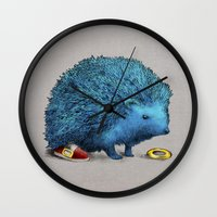 sonic Wall Clocks featuring Sonic (color option) by Eric Fan