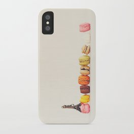 Paris, macaron and the eiffel - Vintage version iPhone Case