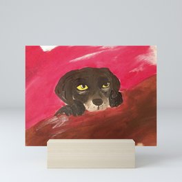 Jake, the baby Labrador Mini Art Print