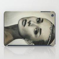 hepburn iPad Cases featuring Audrey Hepburn by Claire Lee Art