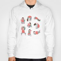 yoga Hoodies featuring Yoga by Anna Katharina Jansen | Illustration