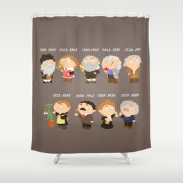 science for nerds  Shower Curtain