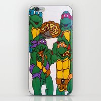 ninja turtles iPhone & iPod Skins featuring Ninja Turtles by Hannah Bolotin