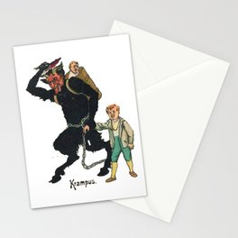 Unmerry Krampus Stationery Cards
