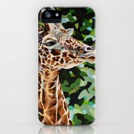 Masai Giraffe iPhone Case
