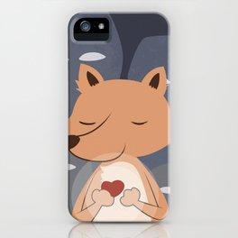 Peaceful Fox iPhone Case