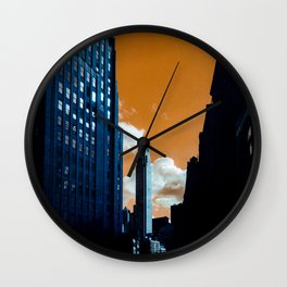 NYC Duotone 3 Wall Clock