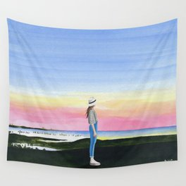 2017,sunset Wall Tapestry