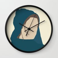 les miserables Wall Clocks featuring Fantine (Workhouse) - Anne Hathaway - Les Miserables by Hrern1313
