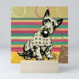 Scottish Terrier Neck Gator Scotty Dog Mini Art Print