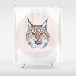 Lynx Lynx portrait Shower Curtain