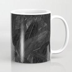 Feathered (Black). Coffee Mug