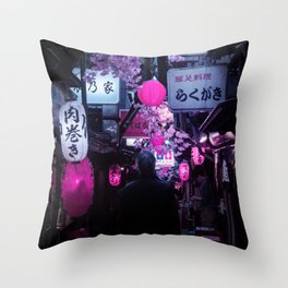 Tokyo Nights / Memory Lane / Liam Wong Throw Pillow