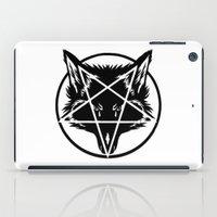 pentagram iPad Cases featuring Pentagram Wolf Inverted by Mohrne