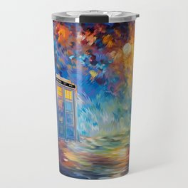 Tardis Doctor Who Rainbow Abstract Travel Mug