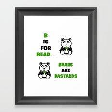 B is For Bear Framed Art Print