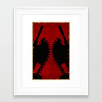 gears of war Framed Art Prints featuring Gears of war by SJones