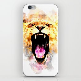 perfect african lioness iPhone Skin
