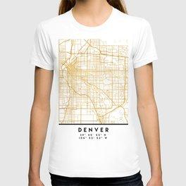 DENVER COLORADO CITY STREET MAP ART T-shirt