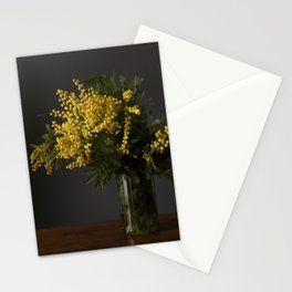 Yellow flowers in a vase Stationery Cards