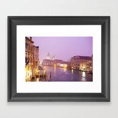 Venice at Night Framed Art Print