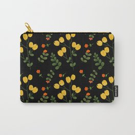 Wild Yellow Berry Fruit And Flower  Carry-All Pouch