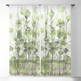 Floral Charm No.1I by Kathy Morton Stanion Sheer Curtain