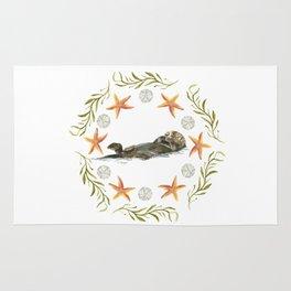 Sea Otter Mandala 1 - Watercolor Rug