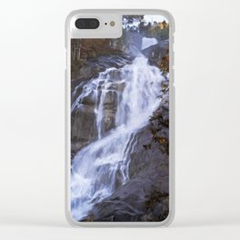Tranquility Of Creation - Waterfall Art Clear iPhone Case