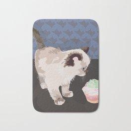 Kitten with a Cupcake Bath Mat
