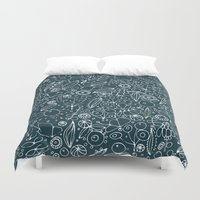 lace Duvet Covers featuring Lace by By Myyna