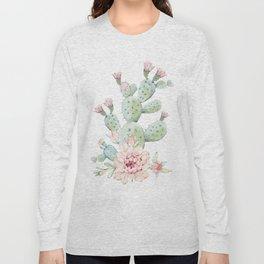 Cactus 3 White #society6 #buyart Long Sleeve T-shirt