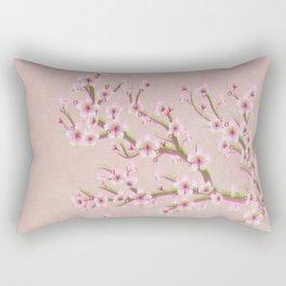 Cherry Blossom Branch Rectangular Pillow