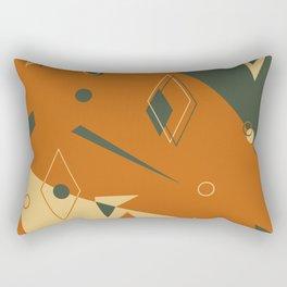 Geometrical style print illustration Rectangular Pillow