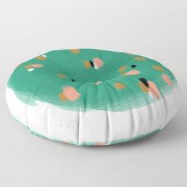 Green Speckles Floor Pillow
