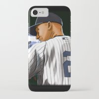 yankees iPhone & iPod Cases featuring Jeter by Ryan Ketley