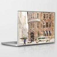 takmaj Laptop & iPad Skins featuring Winter in NYC by takmaj