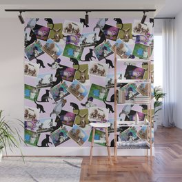 Collage of  Cat Photographs Wall Mural