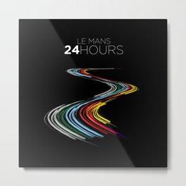 Racing Lines - Le Mans 24 Hours Metal Print