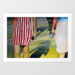 Walking on a dream, 2013, 120-80cm, oil on canvas Art Print