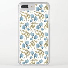 Midnight Tulips Clear iPhone Case