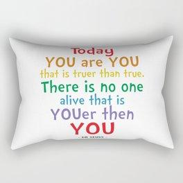 You are You Quote - Dr Seuss Rectangular Pillow