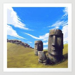 Rapanui Art Print