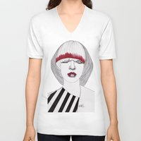 chevron V-neck T-shirts featuring Chevron by Paul Nelson-Esch Art
