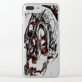 Metal Paper Skull Clear iPhone Case