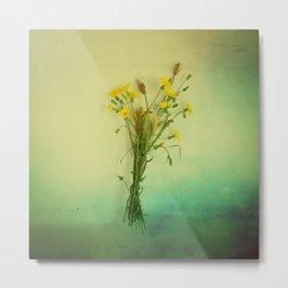 Yellow weeds Metal Print