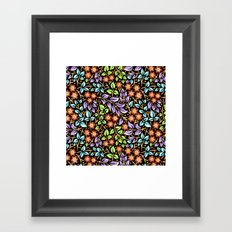 Filigree Floral smaller scale Framed Art Print