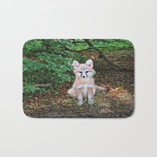 Little Grey Fox II Bath Mat